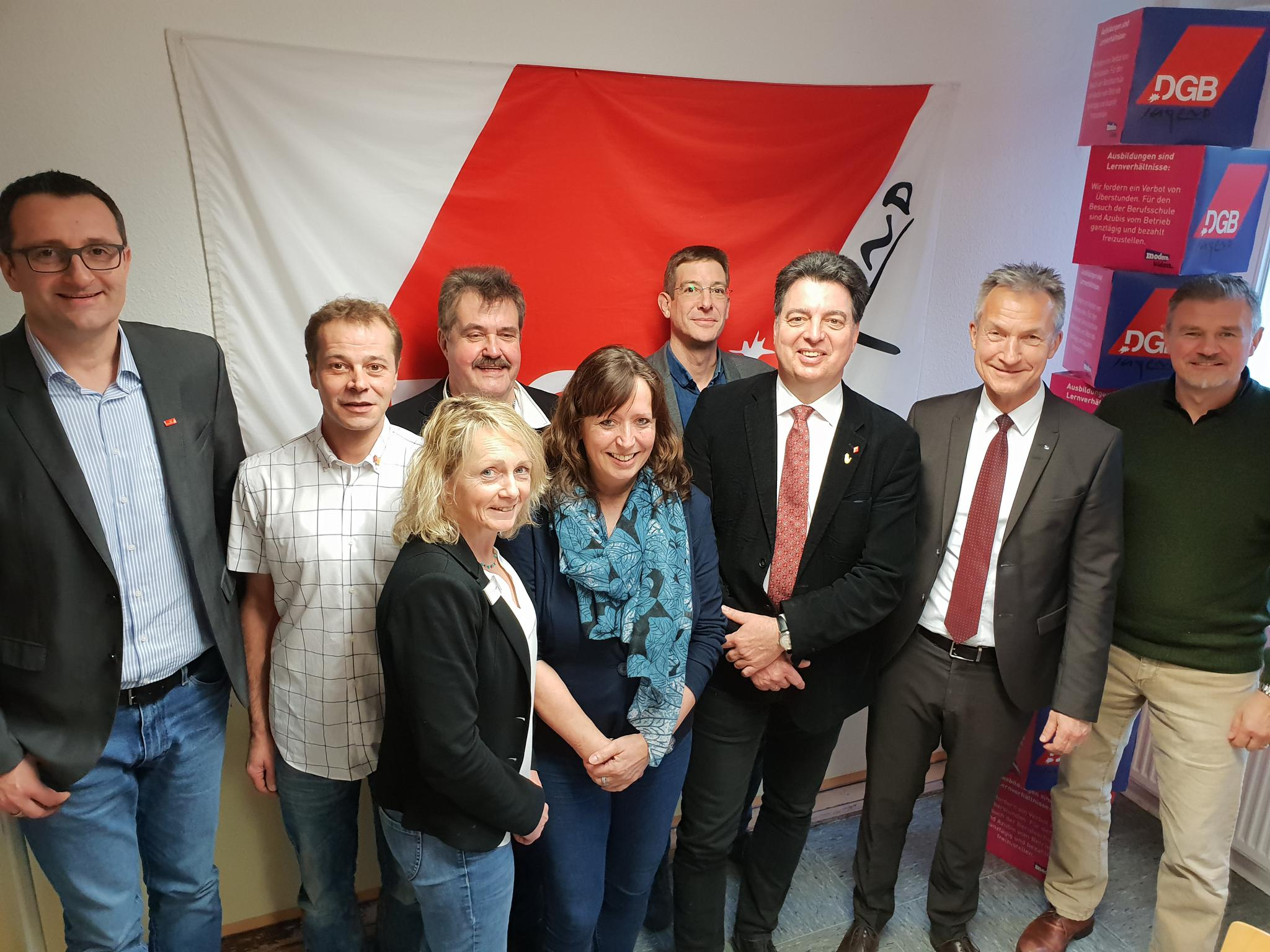 Treffen der Gelsenkirchener Gewerkschaften mit OB Baranowski