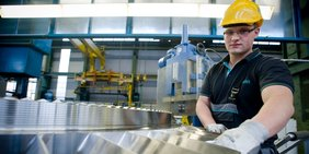 Arbeiter bei Siemens