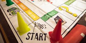 Mensch-wähl-mich: Ein Spiel, das im DGB-Zukunftsdialog eingesetzt wird, um vor Wahlen zu informieren
