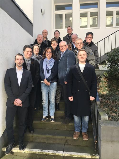 Gruppenbild am DGB-Haus Recklinghausen
